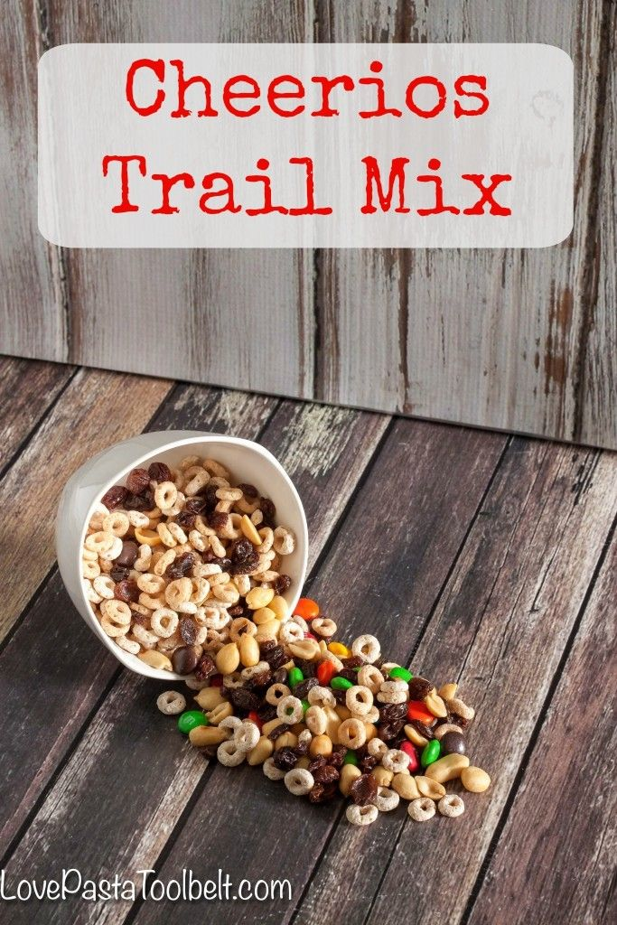 Cheerios Trail Mix makes the perfect afternoon or after school snack for you or the kids!- Love, Pasta and a Tool Belt #CheeriosFunFlavors #ad | snack recipes | trail mix | snacks | salty | sweet | after school snack | back to school | (dessert recipies for kids school lunch)