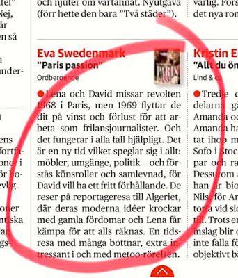 Eva Swedenmarks Värld: En tidsresa med många bottnar - positivt i DN om m...
