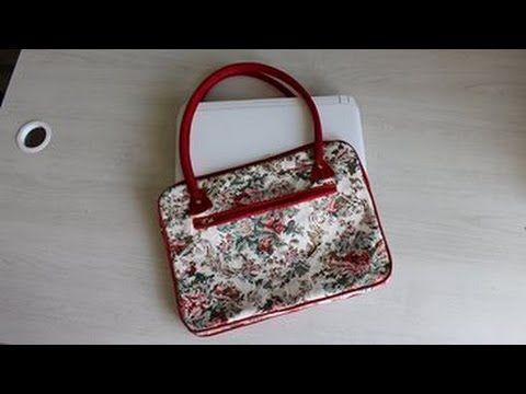 Como fazer uma bolsa ou pasta  fácil e descomplicada   para notebook - YouTube
