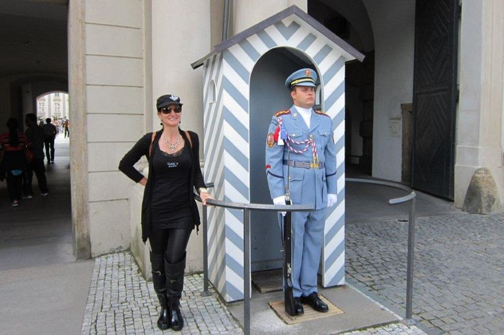 Prague - with the statue soldiers