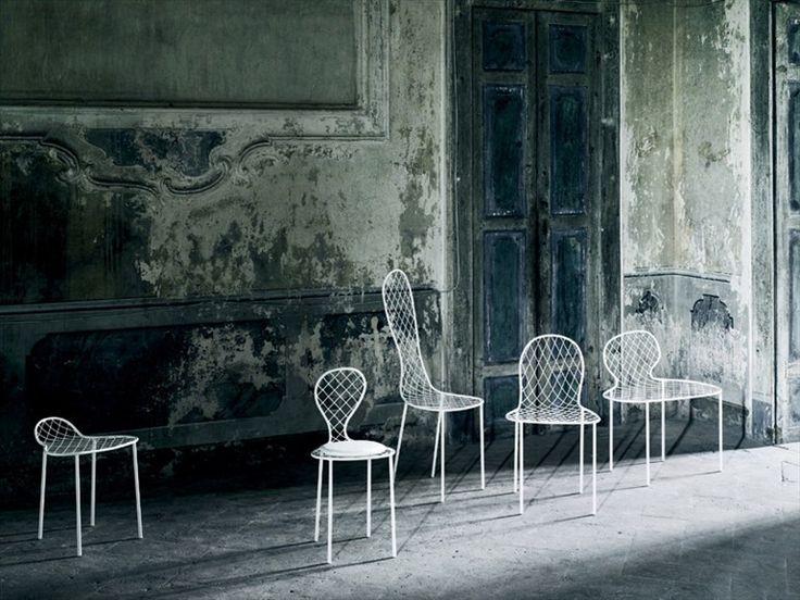 Sedia in rete FAMILY CHAIRS Collezione Family by Living Divani | design Junya Ishigami