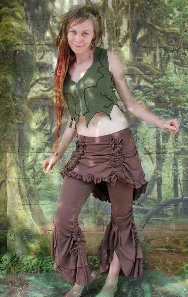 bolero pants lycra pantalon brun ethnique femme baba cool style