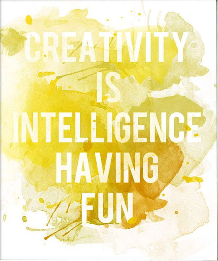 CREATIVITY IS ...