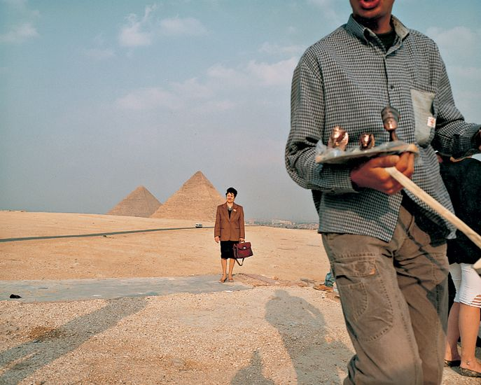 Martin Parr. The Pyramids, Egypt. From the series Small World (1987-94).