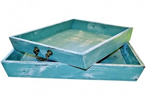 Green Nesting Trays