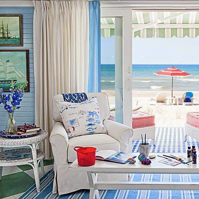 Everything Coastal....: Patriotic Rooms to Inspire A Memorial Day Weekend
