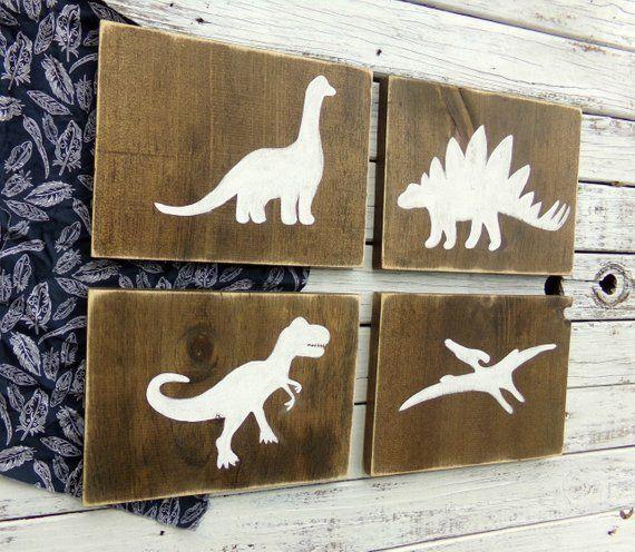 Dinosaur Wood Sign Set Dinosaur Decor Boys Dinosaur Bedroom Decor Dinosaur Wood Signs Boys Dinosaur Bedroom Dinosaur Bedroom Dinosaur Decor Bedroom