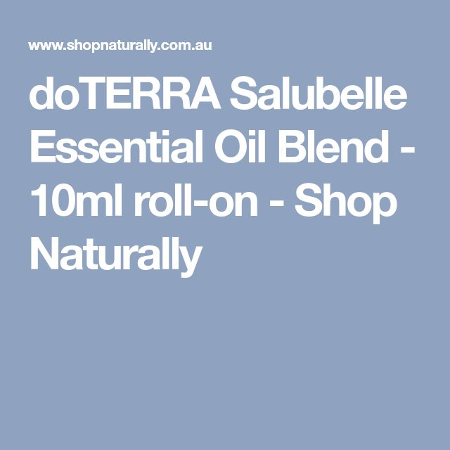 doTERRA Salubelle Essential Oil Blend - 10ml roll-on - Shop Naturally