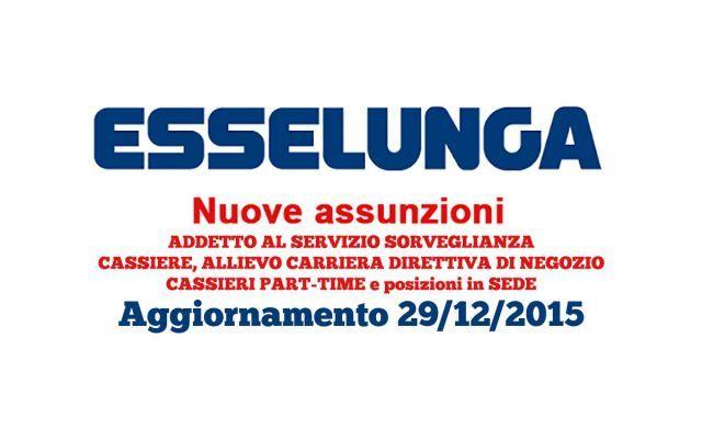 Cercare Lavoro - ESSELUNGA assume cassiere, addetti vendita e addetti alla sorveglianza ESSELUNGA con oltre 140 punti vendita in tutta ITALIA attualmente ricerca: CASSIERE/A - AUSILIARIO ALLE VENDITE, AUSILIARIO ALLE VENDITE PART TIME WEEK END, ADDETTO AL SERVIZIO SORVEGLIANZA #lavorocassiera #cercolavoro #esselunga