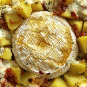 camembert au miel cuit au four (sans lardons)