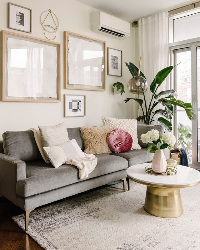 A Triangular Living Room Layout Can Be A Head Scratcher Especially In An Already Tiny Nyc Apartme Livingroom Layout Apartment Living Room West Elm Living Room