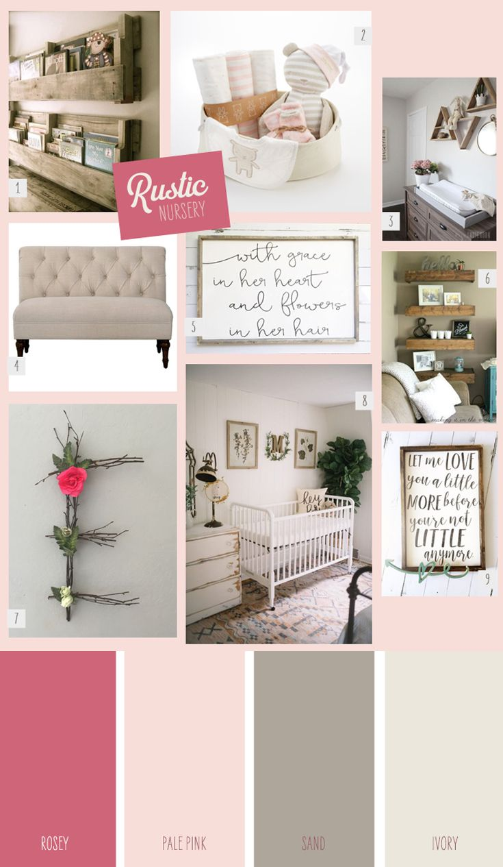 If you love rustic farmhouse design and are planning out space for a little girl, bring your favorite design style into her room with vintage and rustic details. | 9 Ideas for a Rustic Girl's Nursery | Corner Stork Baby Gifts