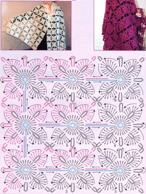 518 best crochet diagrams shawls images on pinterest crochet free crochet shawls patterns ccuart Gallery