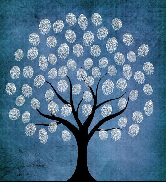 kids thumbprint tree crafts | Love the white fingerprint tree! | Winter Crafts