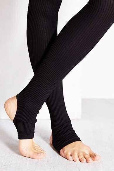 NWT Urban Outfitters BLACK Ribbed Stirrup Tight Dance Tights S / M NEW  | eBay
