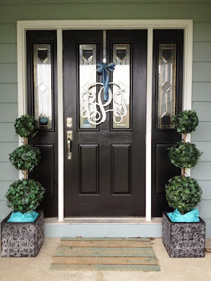 My front entry makeover! A Pinterest Success!