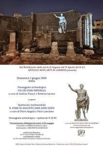 Domenica 1 giugno. Visita ai Fori Imperiali e Foro di Augusto - Articolo Nove - Arte in Cammino