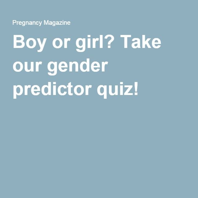 Boy or girl? Take our gender predictor quiz!
