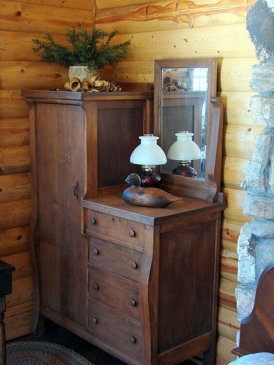 Would love a vintage Chifferobe for the right side of the bedroom fireplace.
