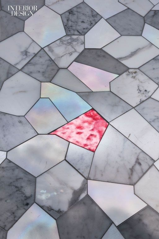 Hard Choices: 9 Tempting Tiles in Porcelain, Ceramic, and Marble   Caleidos mosaic in marble and glass by Sicis.