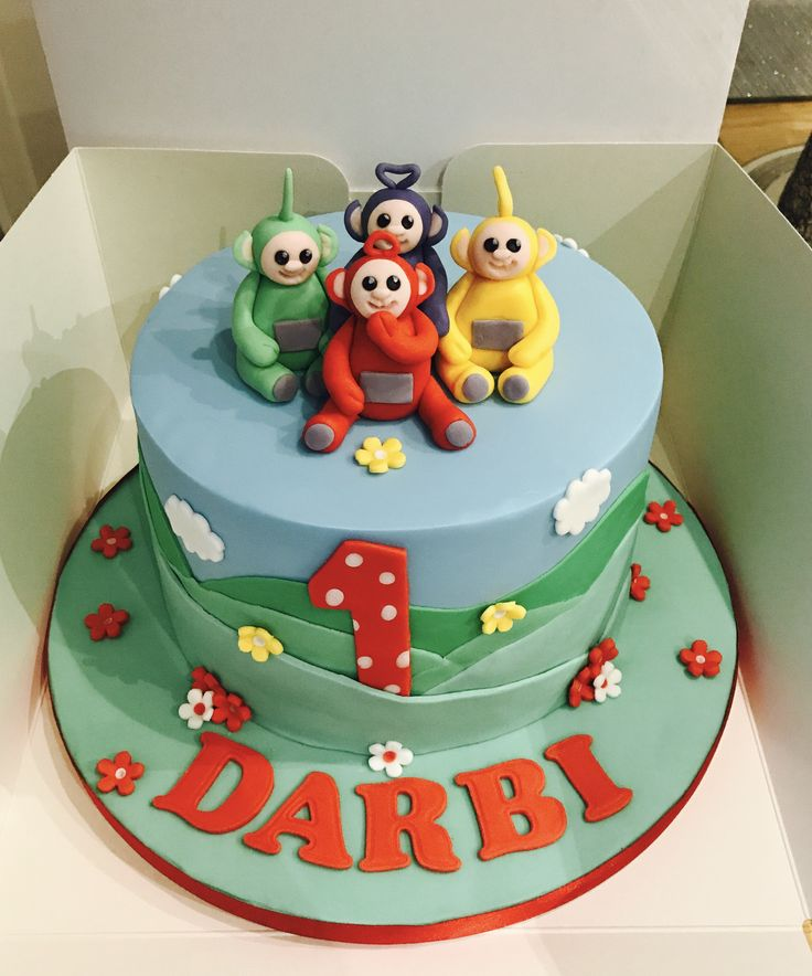 Teletubbies themed cake