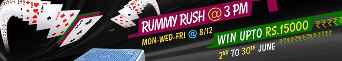 Join the exciting series of Rummy Rush Tournament at #Adda52Rummy and win great cash prizes! Tournament starts at 3 PM on Monday, Wednesday and Friday. Book Your Seat.