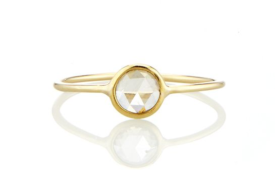 Large rose cut champagne  http://www.refinery29.com/engagement-ring-buying-guide#slide8  $300 to $500