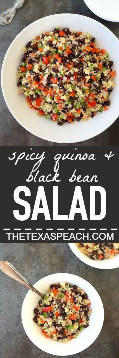 Spicy Quinoa and Black Bean Salad - The Texas Peach