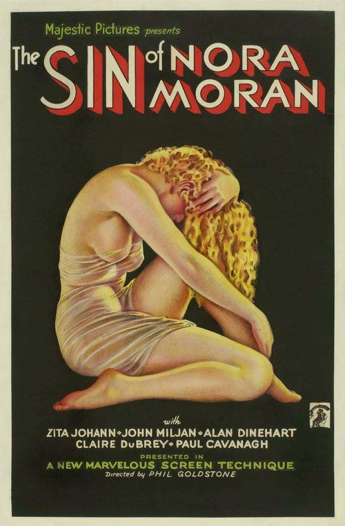'The Sin of Nora Moran' with art work by Alberto Vargas which rather strangely shows the brunette lady of the title as a blonde. 1933
