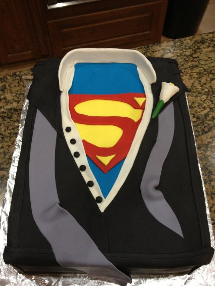 Superman Grooms Cake Grooms Cakes Pinterest Grooms