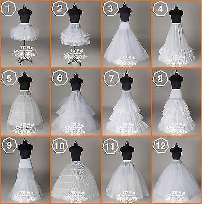 Nuevos 12 Estilos Boda bridal/hoops/hoopless Petticoat resbalones enagua de crinolina in Ropa, calzado y accesorios, Ropa de boda y formal, Accesorios de novia | eBay