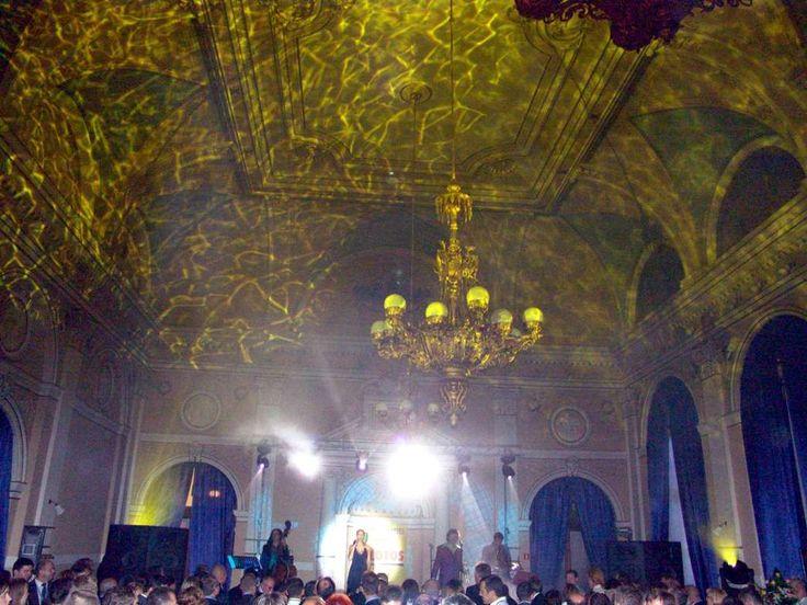 Laser and incredible light effects on the ceiling during Economic Forum in Krynica Górska, Kameleon-light.pl first major event