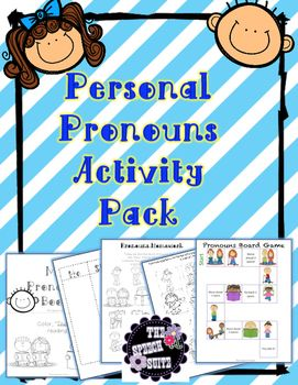 Personal Pronoun Activity Pack. 50% off for the first 48 hours!!!  Includes three interactive activities to target pronouns!