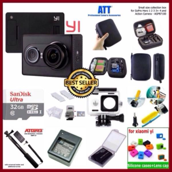 TANYAKAN STOK SEBELUM PEMESANAN !!!!  - READY STOCK - Paket Komplit Murah Xiaomi Yi Camera Black International Version (LIMITED EDITION)  - READY STOCK - Paket Komplit Murah Xiaomi Yi Camera Black International Version (LIMITED EDITION)  KELENGKAPAN PAKET: -Kamera Xiaomi Yi Black International Original - Baterai Sony Original - Kabel Micro USB - Buku Panduan dalam bahasa inggris - Kingma Waterproof versi 2 Original - Antifog (12pcs) - Bobber floating hand grip/pelampung kamera - Sandisk…