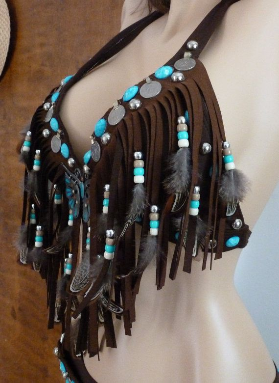Love this bra! <3 Tribal Fusion Bellydance Costume Ultrasuede- Primitive