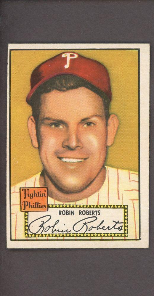 1952 Topps 59 Robin Roberts Philadelphia Phillies Hof Baseball