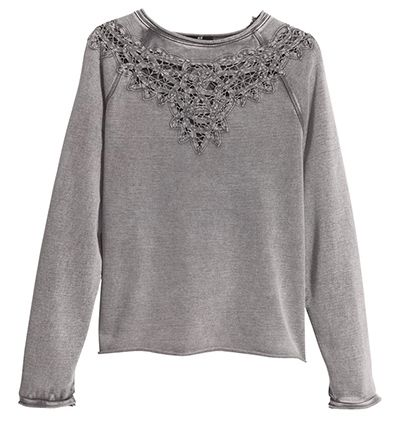 Credit: PR Sweatshirt £14.99If you haven't already got a sweatshirt in your wardrobe, you need to get one. Last season saw marls and graphic prints as the go-to styles. This autumn, think appliqués for a more feminine touchFrom hm.com