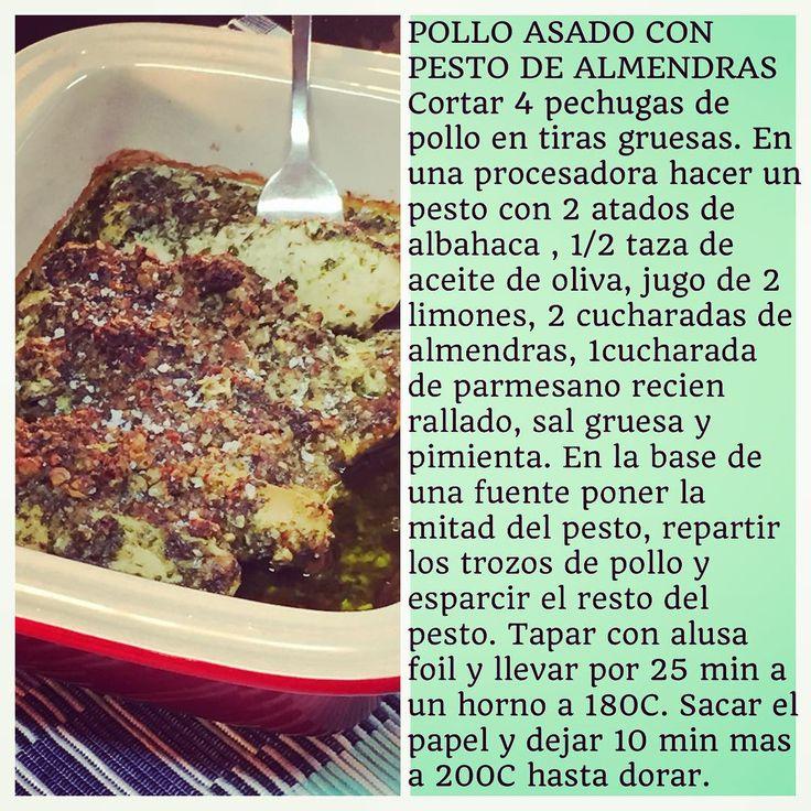 """""""Receta de Pollo Asado con Pesto de Almendras"""" @virginiademariaoficial"""