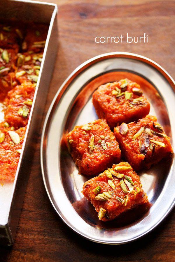 easy and quick recipe of carrot burfi made with 4 ingredients #halwa #dessert