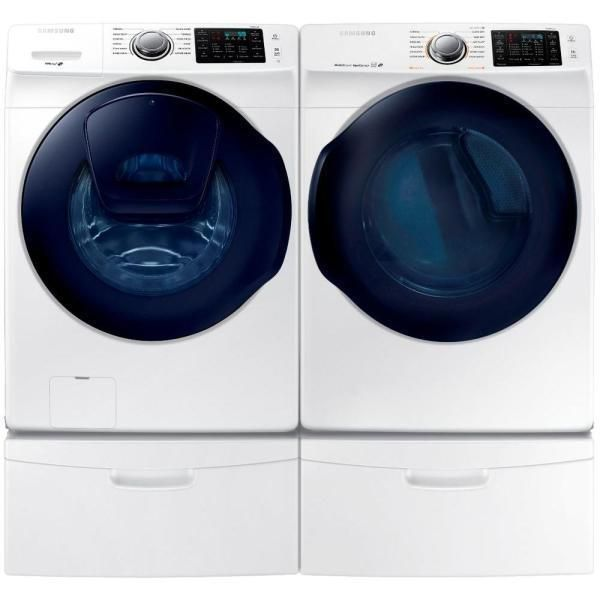 Samsung 27-inch Front Load Washer and Electric Dryer Set (27 in Front Load Washer and Electric Dryer), White (Aluminum)