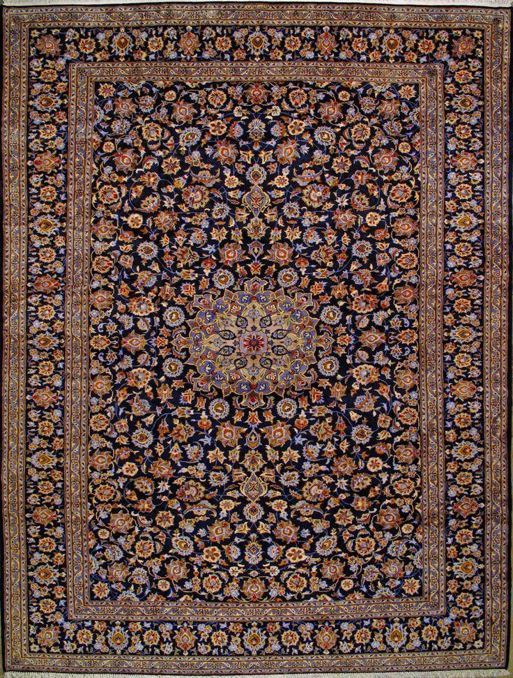 Kashan Persian Rug X Authentic Handmade