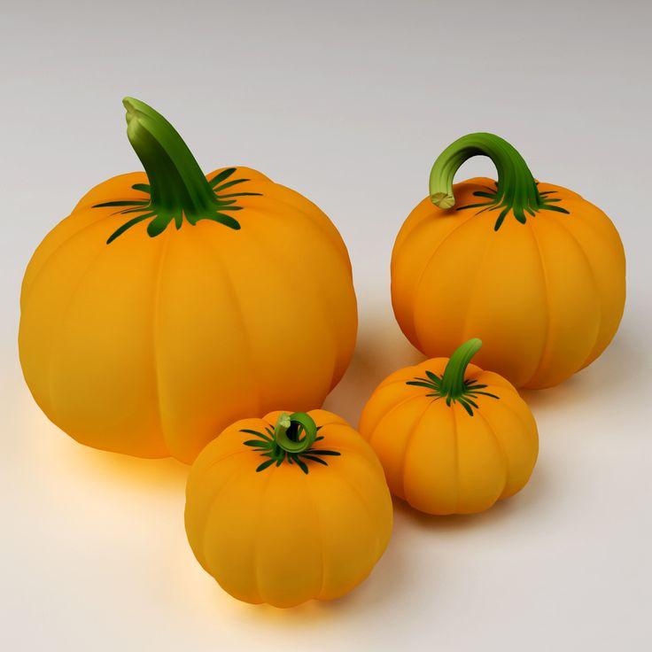 maya cartoony pumpkins