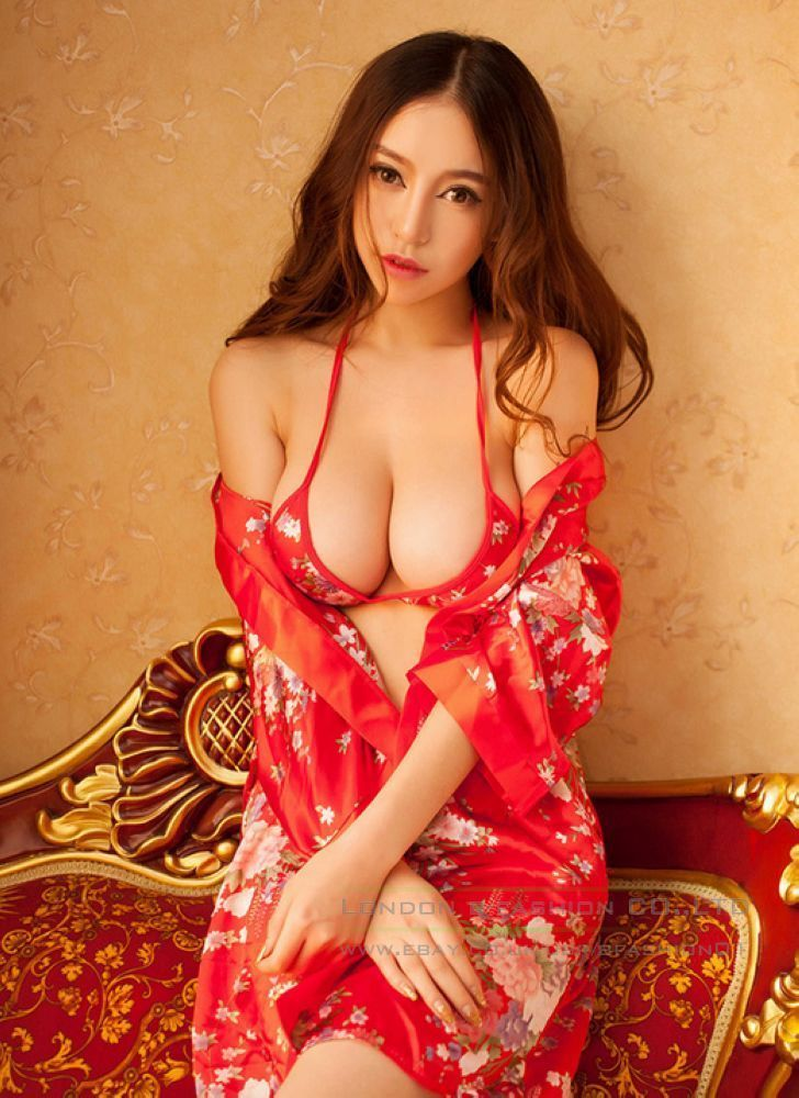 Women s Sexy Red Babydoll Sleepwear Lingerie G-string Underwear Nightwear  Dress c8b1acee6