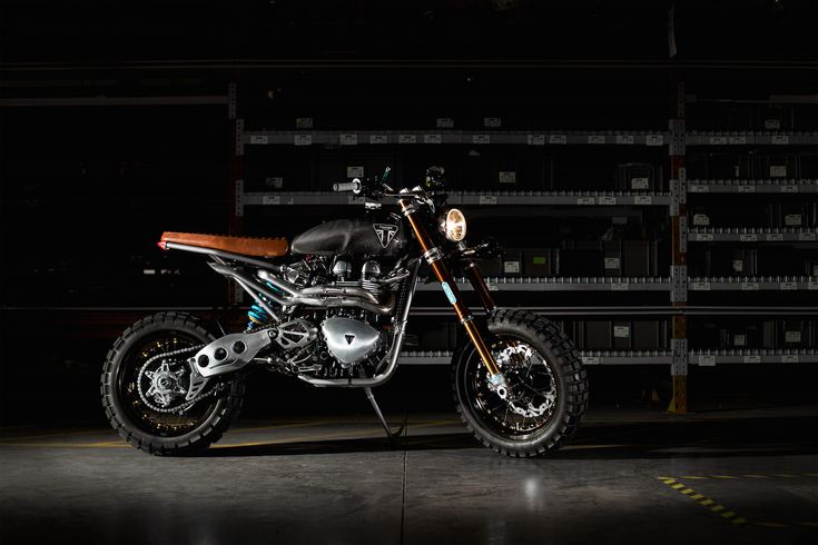 This Triumph Scrambler custom is a little unusual in that it was actually built by the engineers at Triumph as a study into what the Scrambler could evolve into over the coming years. This build is far from being just a slap of paint and a new muffler, every element of the original Scrambler was...