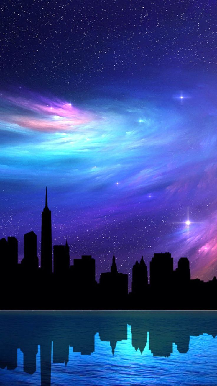 City night reflection Samsung HD wallpaper 1080x1920