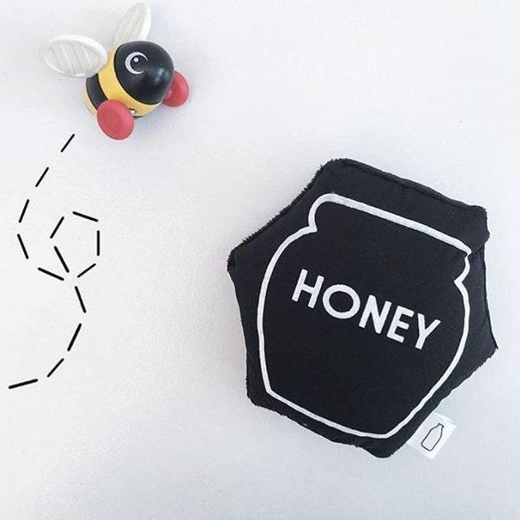 Black Honey Pot Soft Baby Rattle Toy