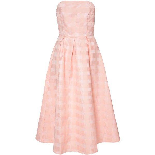 True Decadence Bandeau Midi Dress , Peach ($38) ❤ liked on Polyvore featuring dresses, peach, a line dress, sleeveless dress, pink a line dress, bandeau maxi dress and a line mini dress