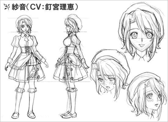 Character Design Hair : Umineko anime designs shanon character design