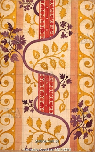 Design for silk, by James Leman. London, England, 1706-16