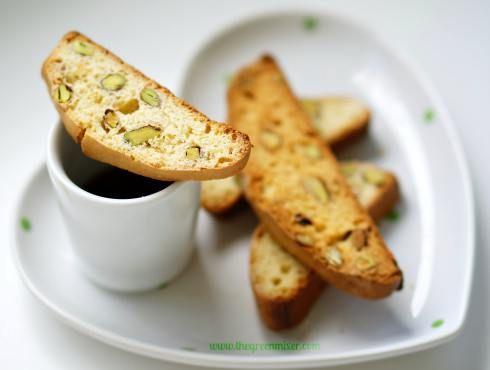 Biscotti με πορτοκάλι και φυστίκι Αιγίνης - Orange pistachio biscotti